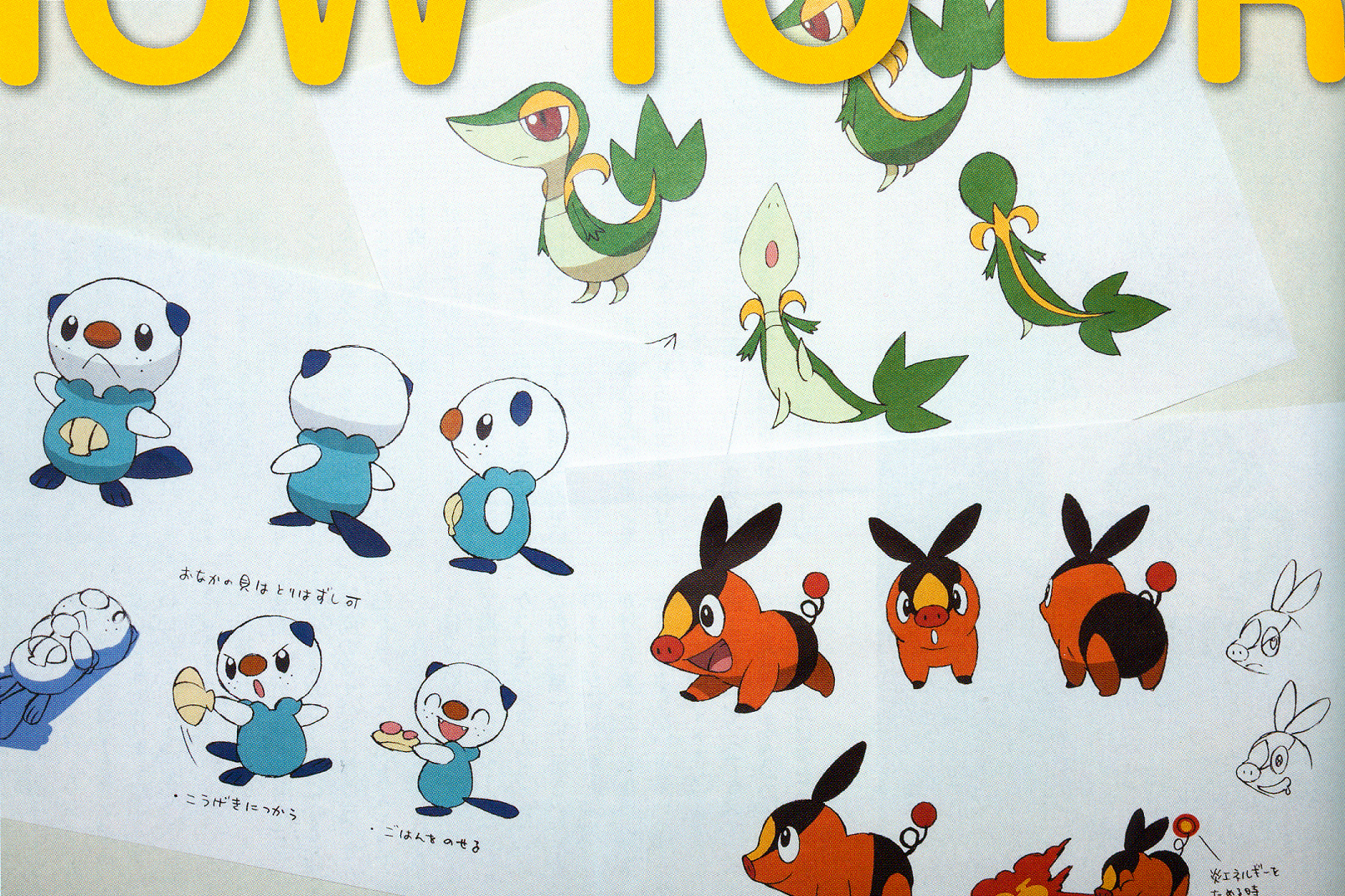 production artwork from the pokemon anime and games