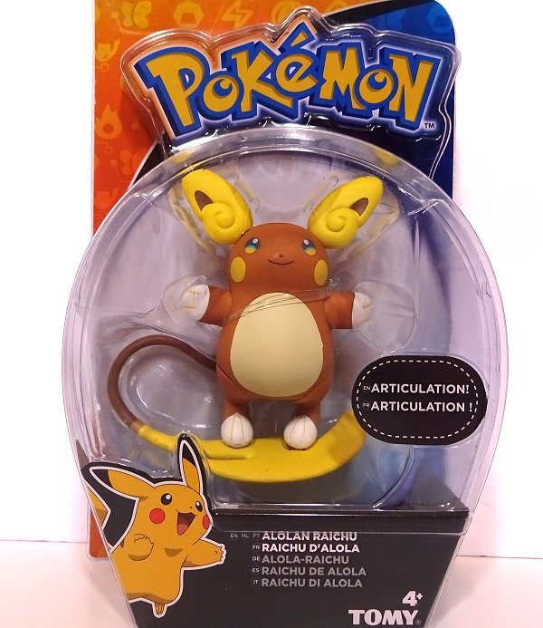Pokemon Battle Action Alolan Raichu Action Figure